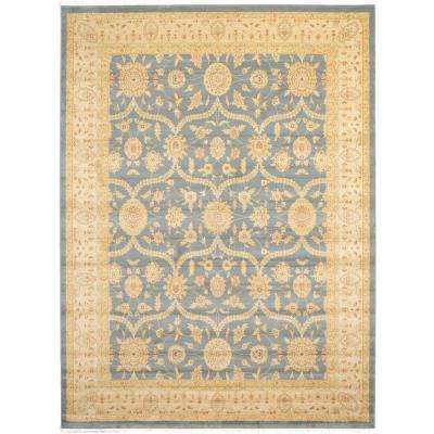 Heritage Blue 9 ft. x 12 ft. Area Rug