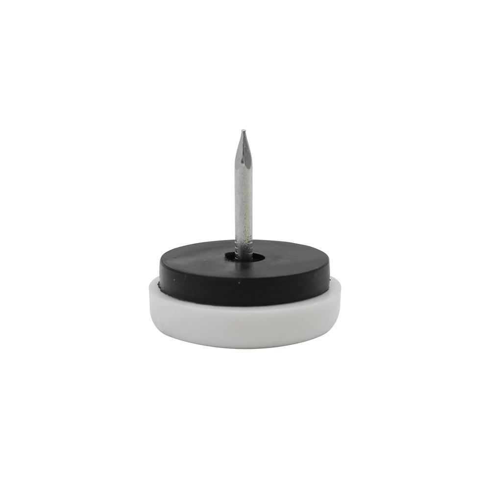 Everbilt 1 in  White Nylon Nail-On Glide (4-Pack)