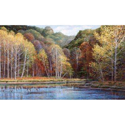 15 ft. x 9 ft. Peaceful Settings Wall Mural