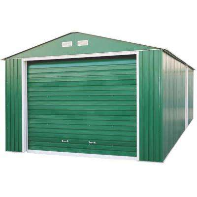 12 ft. x 20 ft. Imperial Metal Garage Green with White Trim