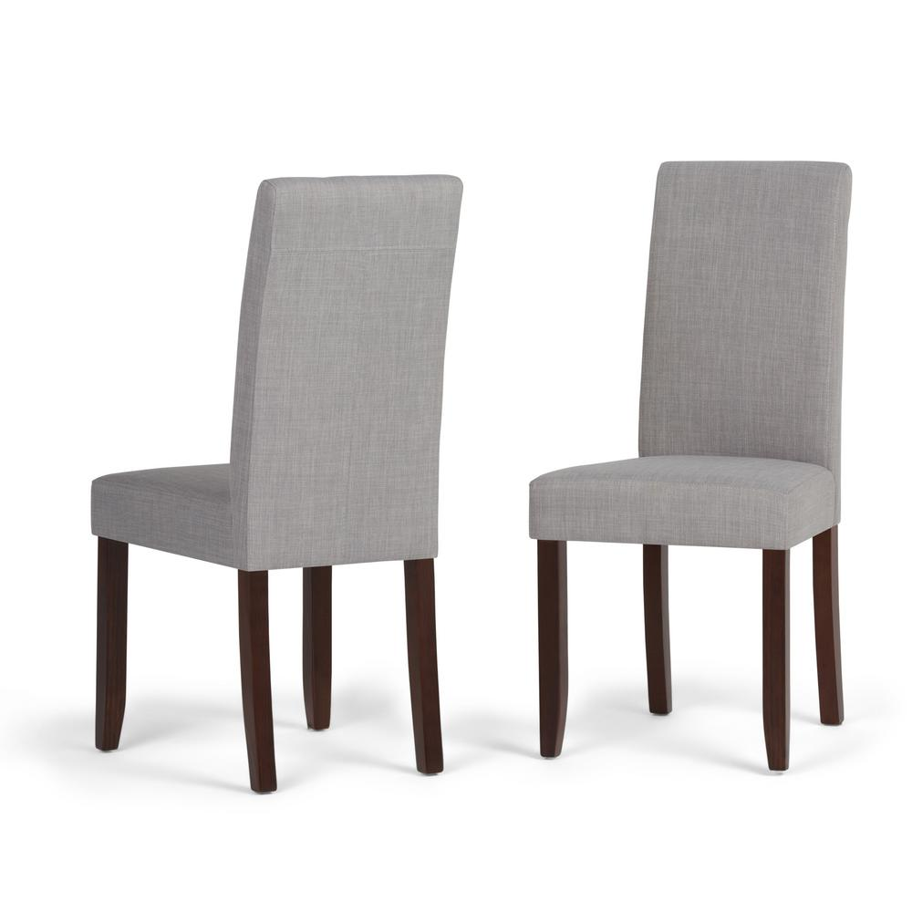 Simpli Home Acadian Dove Grey Parsons Dining Chair (Set Of 2)