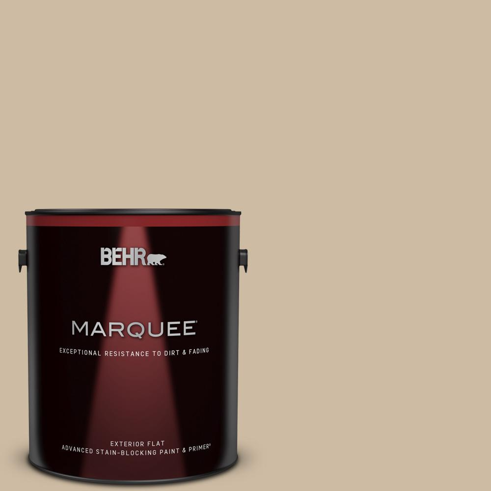 Behr Marquee 1 Gal 710c 3 Gobi Desert Flat Exterior Paint And Primer In One 445401 The Home Depot