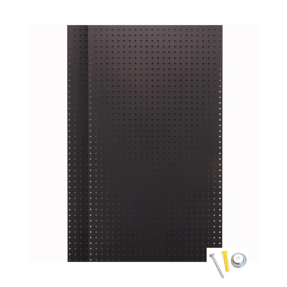 24 in. H x 42 in. W Pegboard 2 Pack Black High-Density Fiberboard