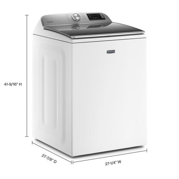 Maytag 4 7 Cu Ft Smart Capable White Top Load Washing Machine With Extra Power Button And Deep Fill Option Mvw6230hw The Home Depot