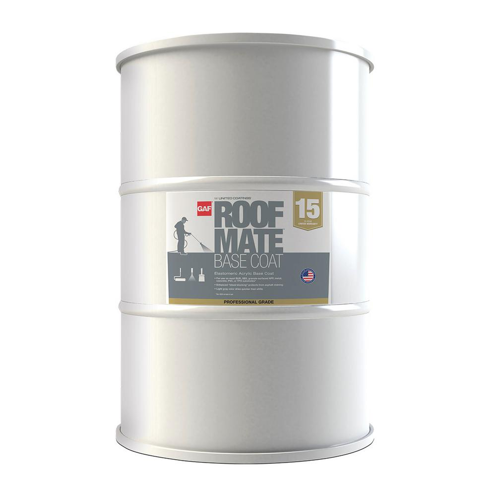 Gray Roof Paint: GAF 54 Gal. Roof Mate Base Coat Light Gray Roof Coating