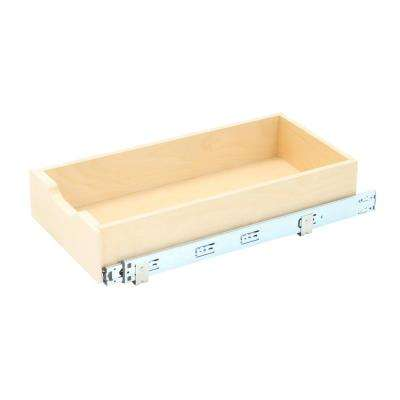 5 in H x 11.78 in. W x 22 in D Soft-Close Wood Drawer Box Pull-Out Cabinet Organizer