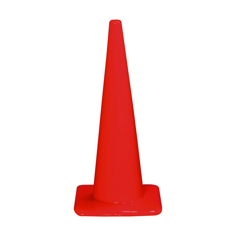 3M 28 in. Orange PVC Non Reflective Traffic Safety Cone
