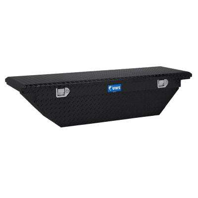 60 in. Aluminum Black Single Lid Crossover Tool Box with Low Profile Angled