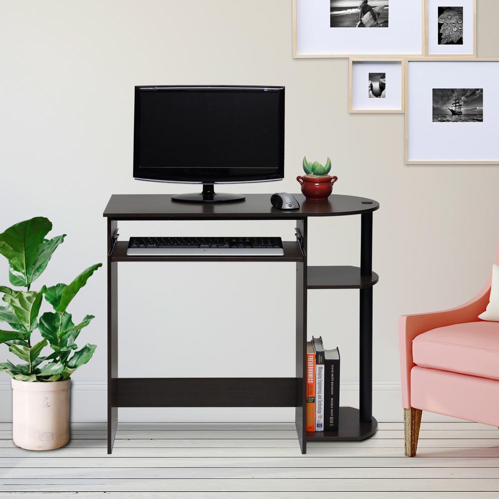 Simplistic Dark Brown Computer Desk