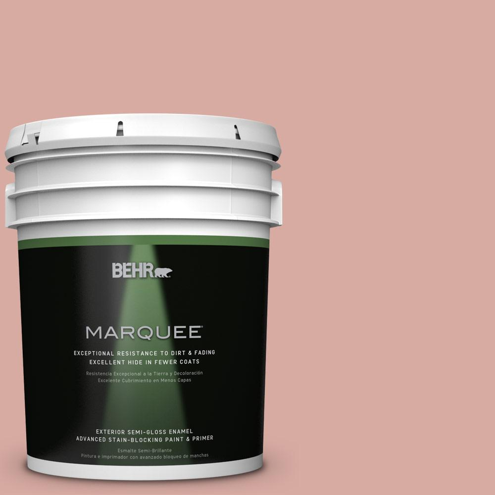 5 gal. #T17-06 Everything's Rosy Semi-Gloss Enamel Exterior Paint