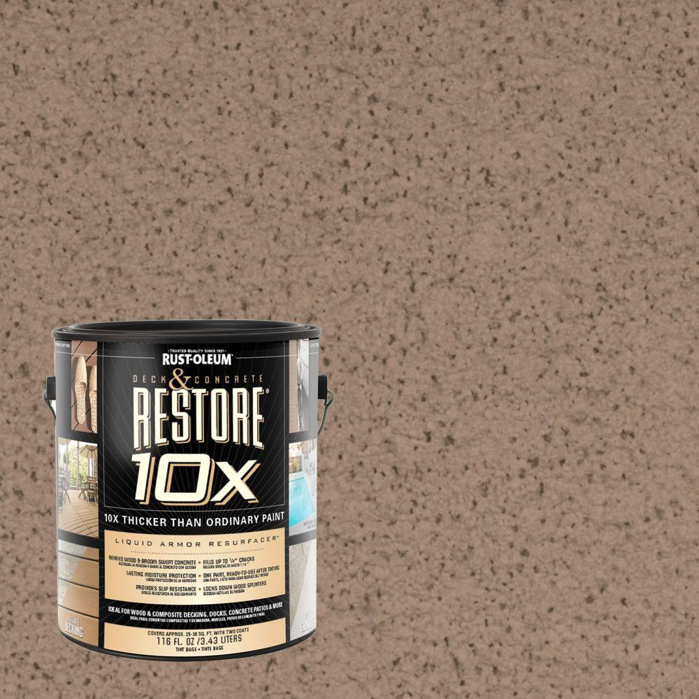 Rust-Oleum Restore 1-gal. Camel Deck and Concrete 10X Resurfacer