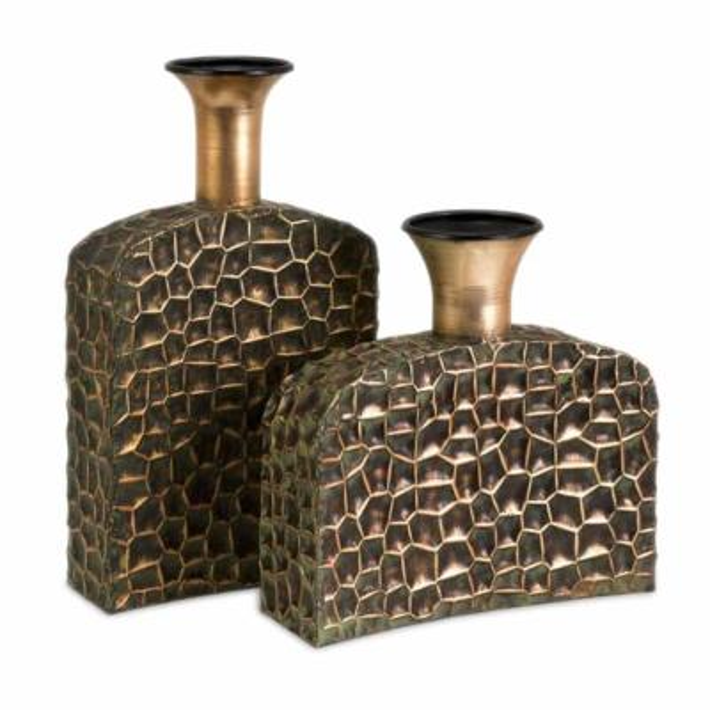 Copper Liana Reptilian Angular Bottles (Set of 2)