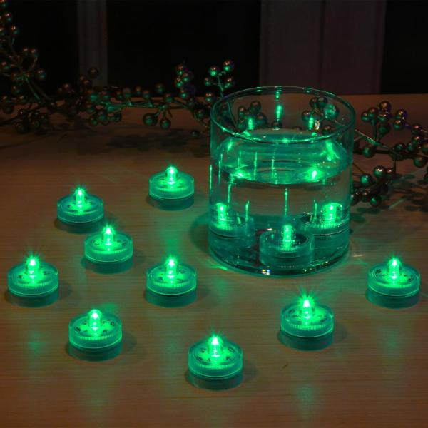 Lumabase Green Submersible LED Lights (Box of 12)-68812 - The Home Depot