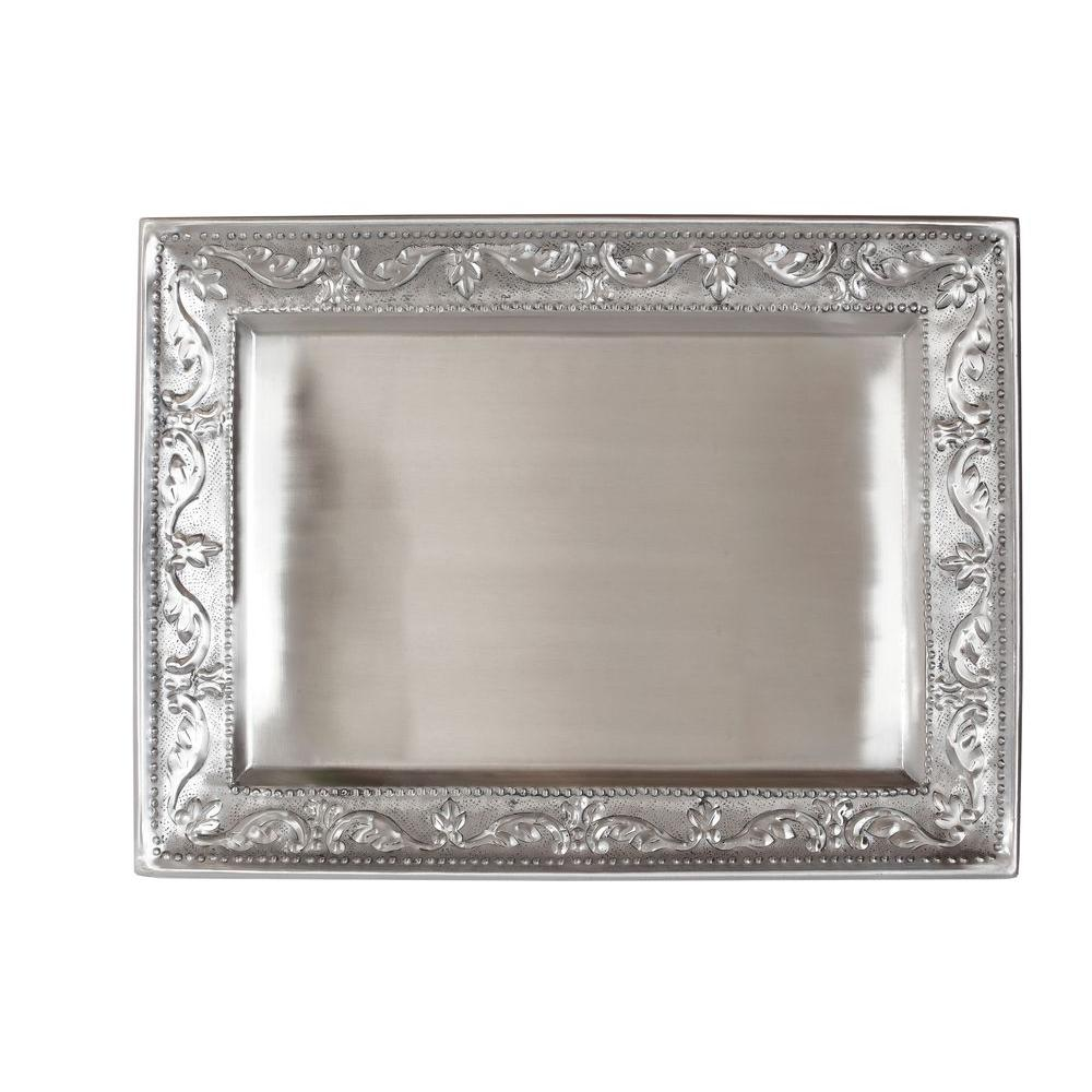 Old Dutch 18 in. x 13.5 in. Antique Embossed Victoria Rectangular Tray