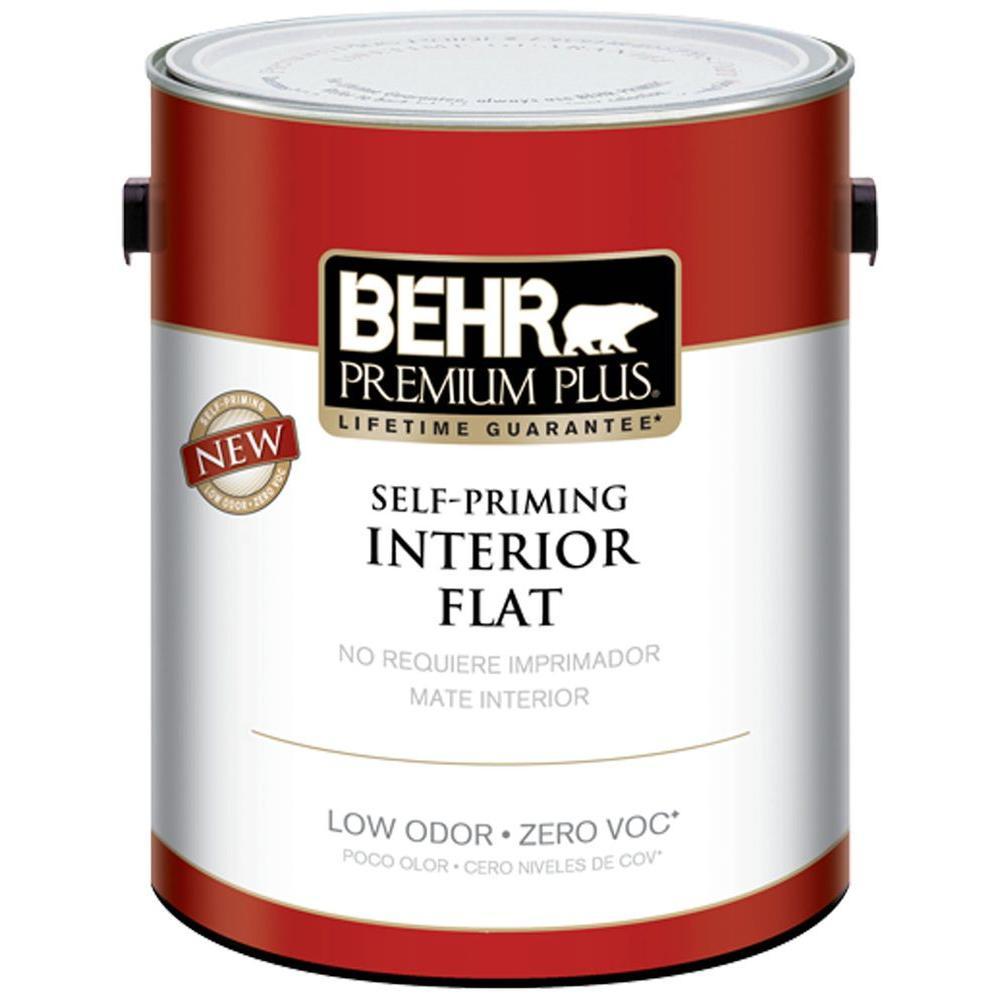 BEHR Premium Plus 1-gal. Navajo White Flat Zero VOC Interior Paint - DISCONTINUED