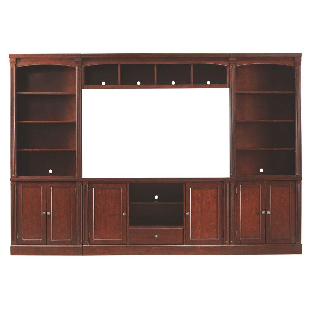 Home Decorators Collection Edinburgh 6 Piece Espresso Modular Entertainment Center 3062300800