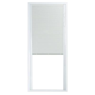72 in. x 80 in. 50 Series White Vinyl Sliding Patio Door Left-Hand Fixed Panel with Blinds