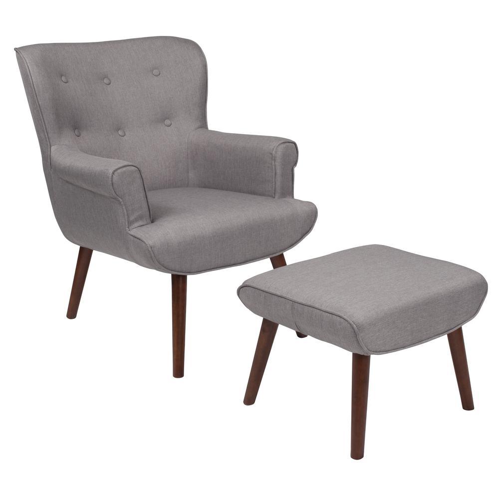 Flash Furniture Light Gray Fabric Arm Chair CGA-QY-226162-LI-HD