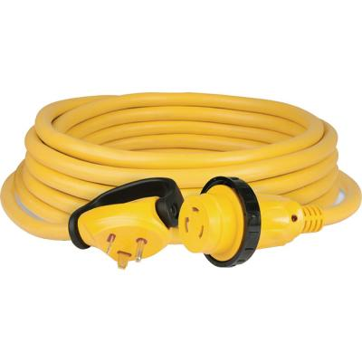Camco 25 Ft 30 Amp Power Grip Electrical Power Cord With Handle 55191 The Home Depot