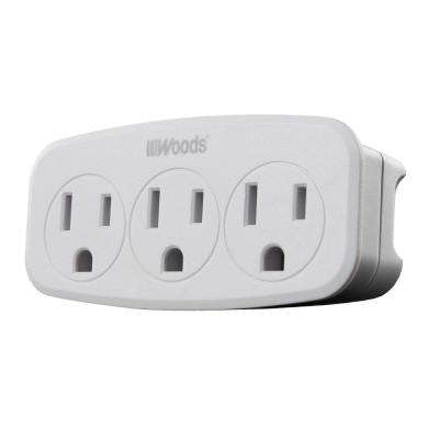 3-Outlet Wall Tap with Phone Cradle