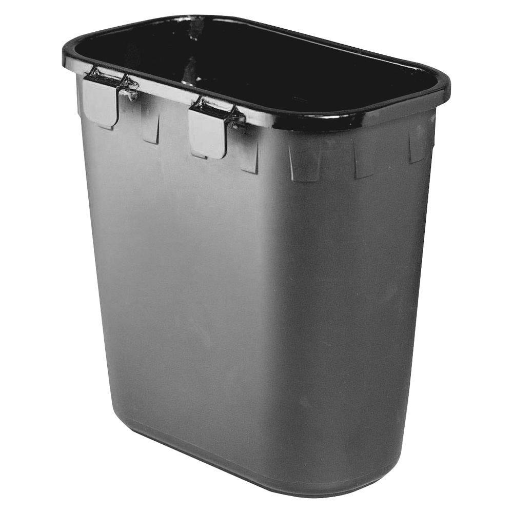 1.75 Gal. Black Hanging Paper Pitch Trash Can