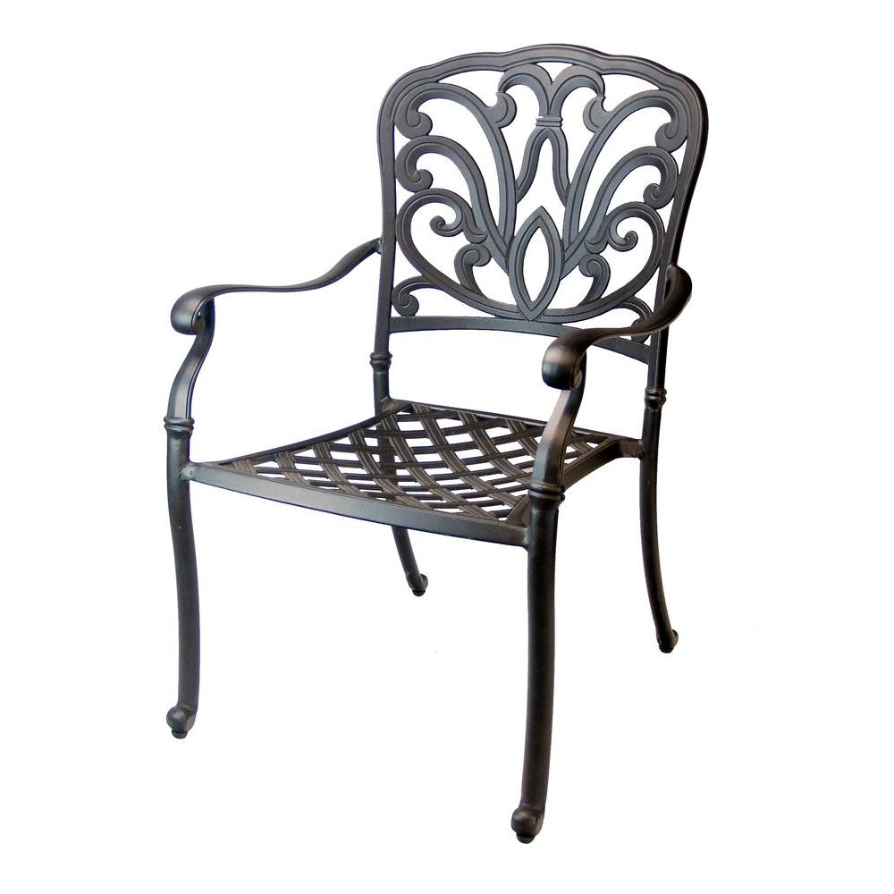 Oakland Living Hampton Aluminum Patio Dining Chair-HDPart ... on Ab And Outdoor Living id=84955