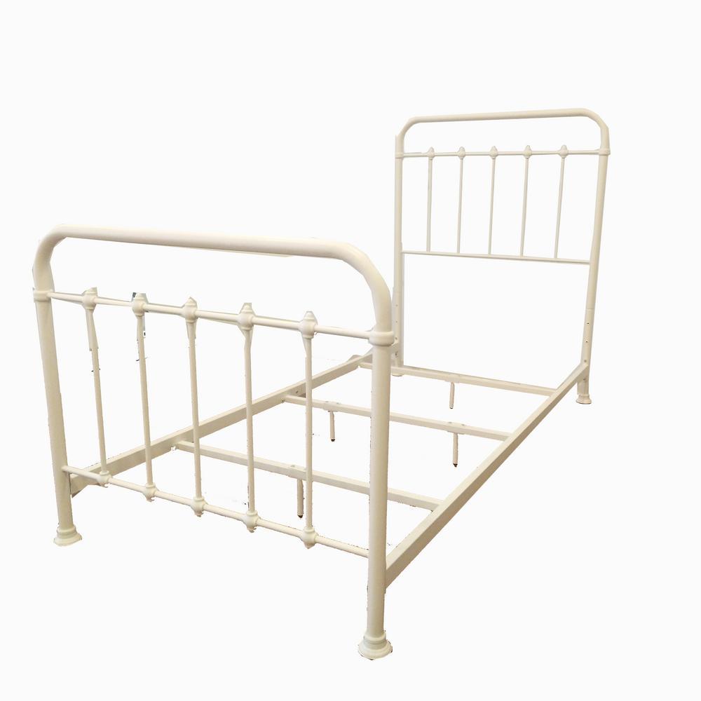 White Metal Twin Standard Bed