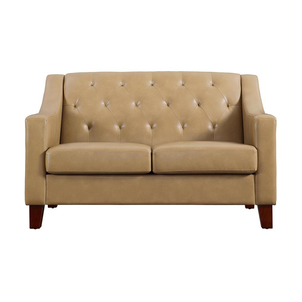 Dorel Living Avalon Taupe Tufted Back Track Arm Loveseat Fh3930ls