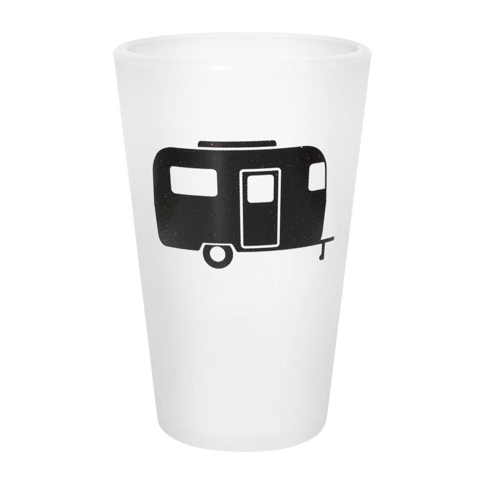 Silipint 16 oz. Silicone Pint Cup in Frosted White with Camper-DISCONTINUED