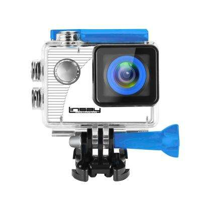 Funny Kids Blue Action Camera Sport Outdoor Activities HD Video and Photos Micro SD Card Slot up to 32GB