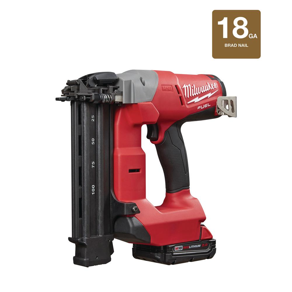 Milwaukee M18 FUEL 18-Volt Lithium-Ion Brushless Cordless 18-Gauge ...