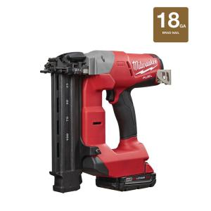 Milwaukee M18 FUEL 18-Volt Lithium-Ion Brushless Cordless 18-Gauge Brad Nailer Kit W/ (1) 2.0Ah Battery,... by Milwaukee