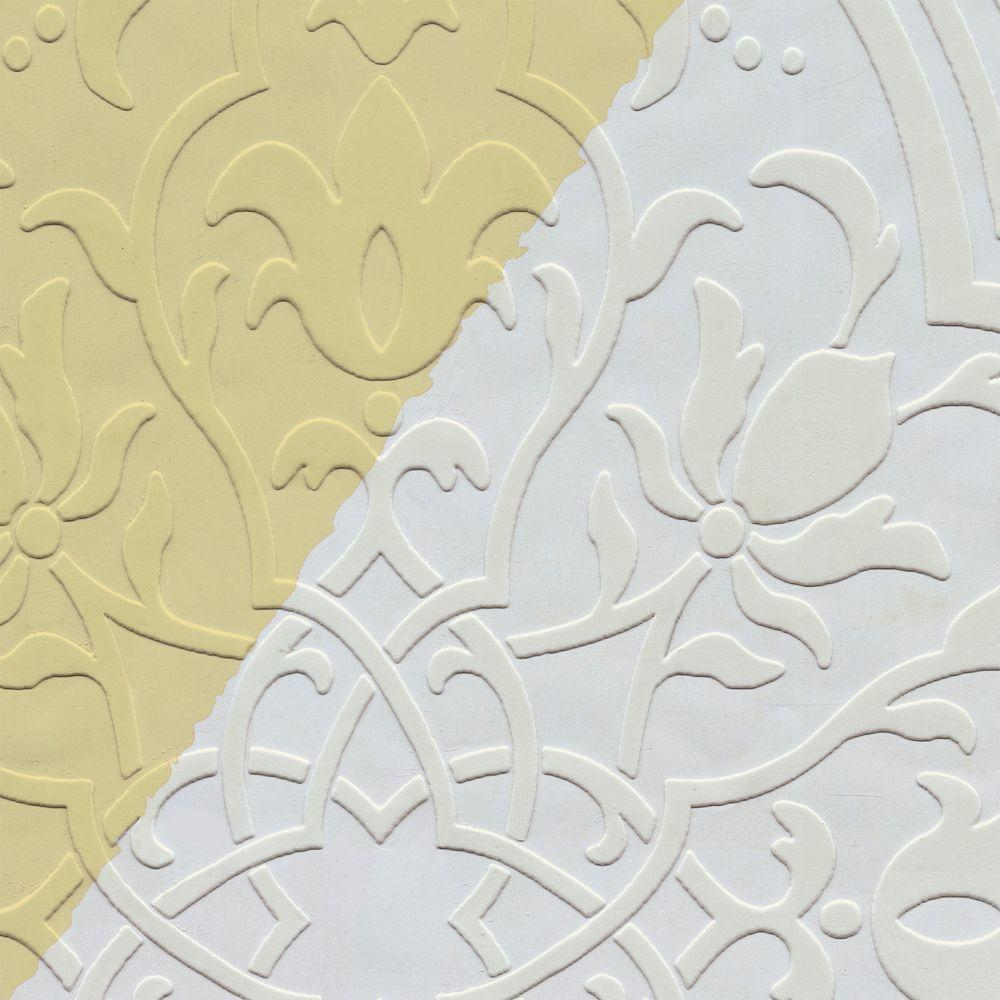 The Wallpaper Company 54.67 sq. ft. Paintables Plaster Wallpaper