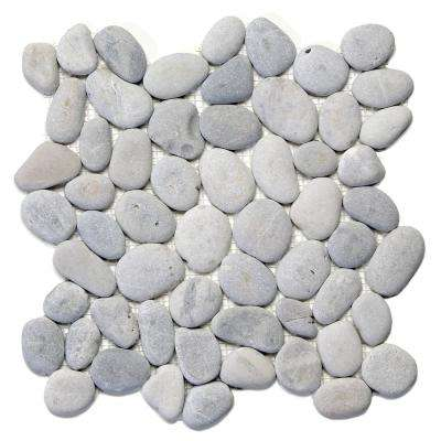 River Rock Alpine 12 in. x 12 in. x 12.7 mm Natural Stone Pebble Mosaic Floor and Wall Tile (10 sq. ft. / case)