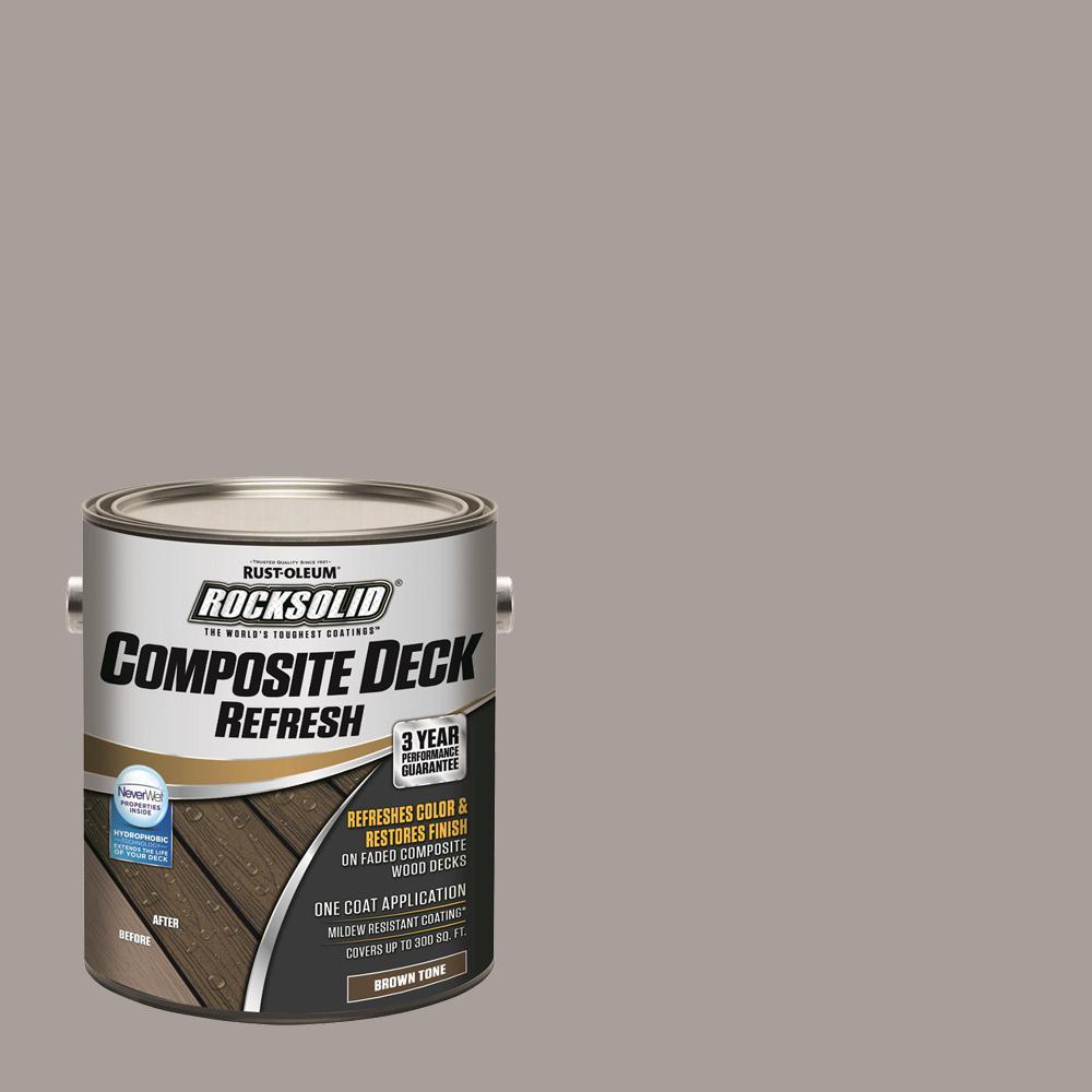 Rust-Oleum RockSolid 1 gal  Brown Tone Composite Deck Coating