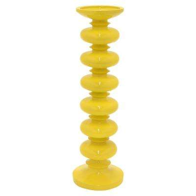 16 in. Candle Holder in Yellow