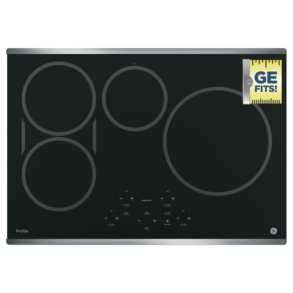 Electric Induction Cooktop In Stainless Steel With 4 Elements And Exact