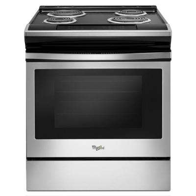 Single Oven Electric Range With Guided Front Control In Stainless Steel