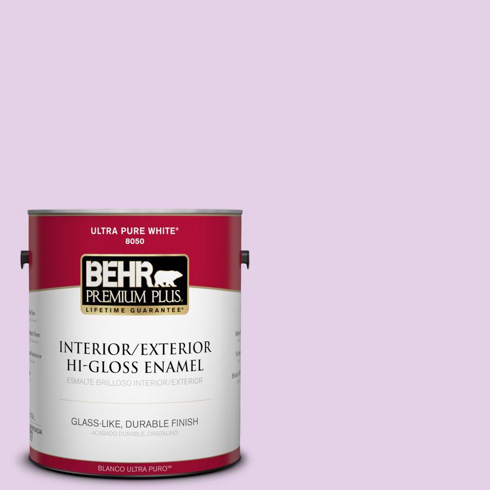 BEHR Premium Plus 1-gal. #P100-2 Sweet Romance Hi-Gloss Enamel Interior/Exterior Paint