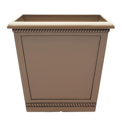 Westhaven 17.5 in. x 15.4 in. Saddle Resin Planter