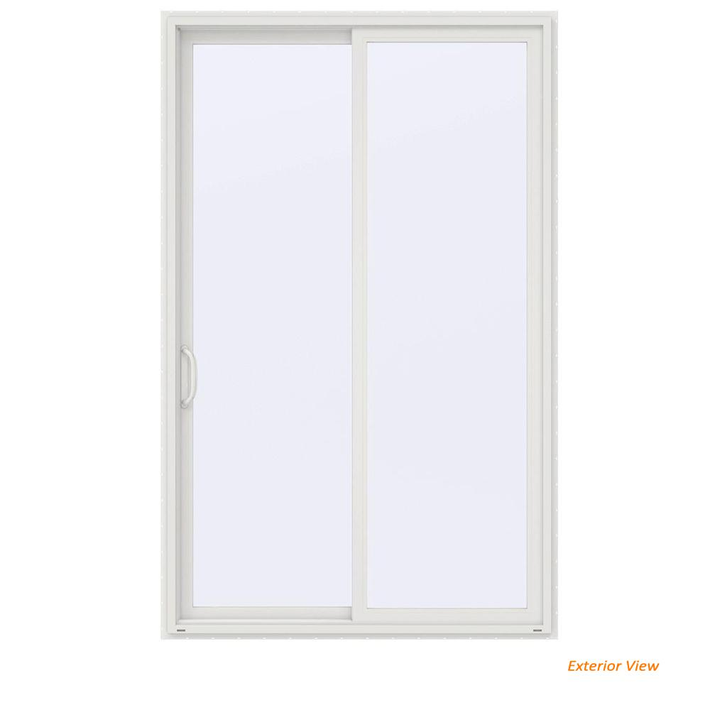 60 in. x 96 in. V-4500 Contemporary White Vinyl Left-Hand Full