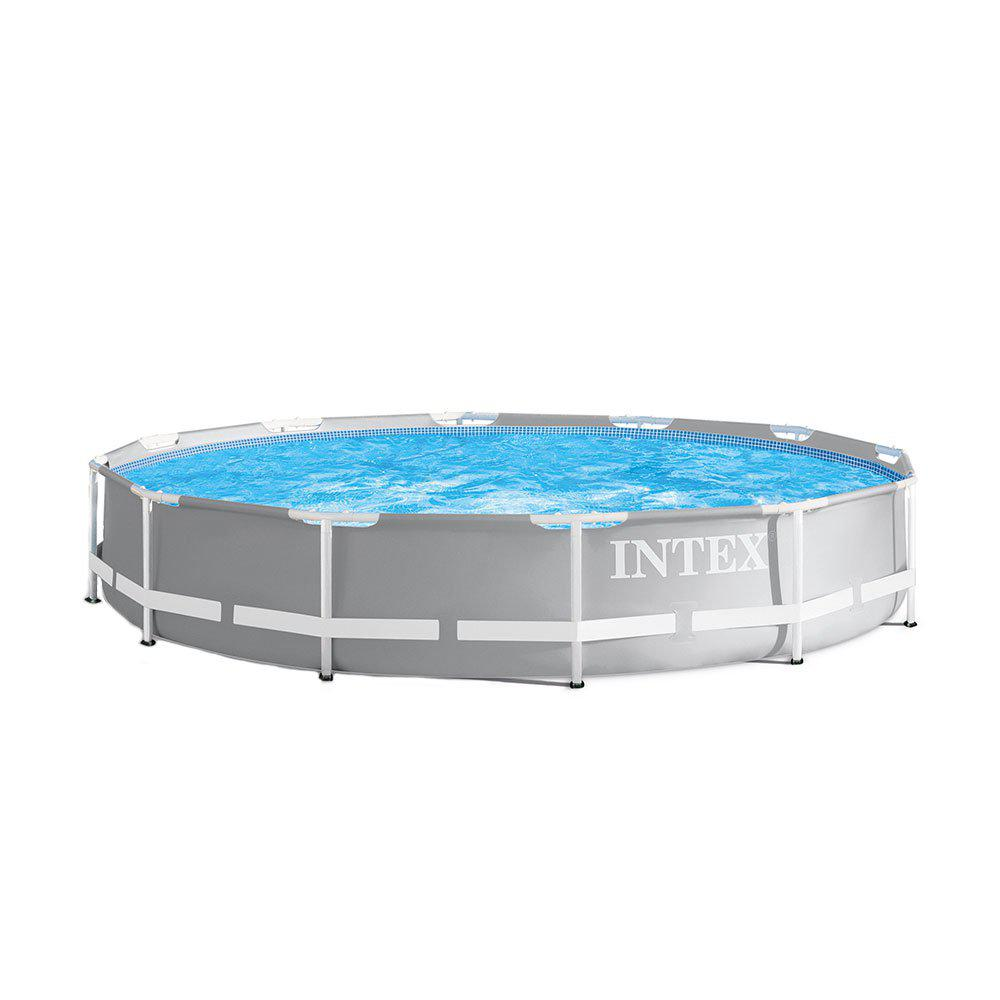 Intex 12 ft. x 30 in. Durable Prism Steel Frame Above Ground Swimming Pool