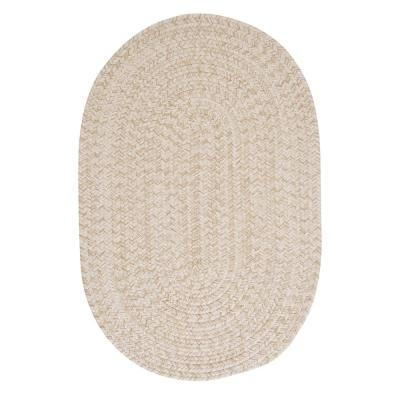 Cicero Natural 7 ft. x 9 ft. Oval Braided Area Rug