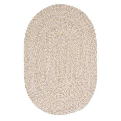 Cicero Natural 7 ft. x 9 ft. Braided Oval Area Rug