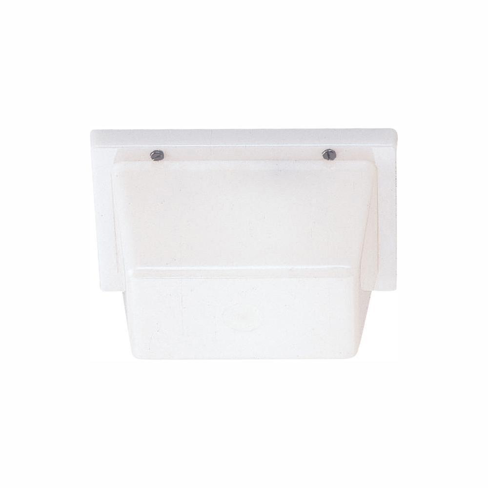 White 1-Light Outdoor Flush Mount with LED Bulb