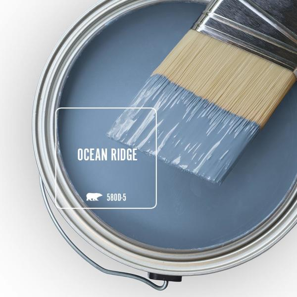 Reviews For Behr Marquee 5 Gal 580d 5 Ocean Ridge Satin Enamel Exterior Paint Primer 945405 The Home Depot