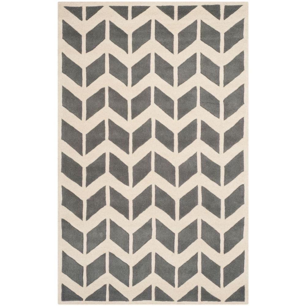 Safavieh Chatham Dark Grey/Ivory 3 ft. x 5 ft. Area Rug