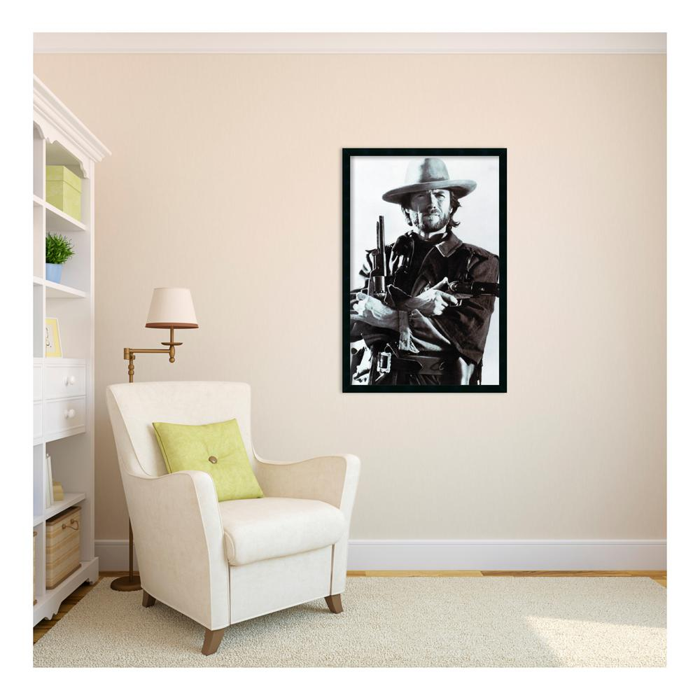 Amanti Art 26 in. x 38 in. Outer Size Clint Eastwood Framed Art ...