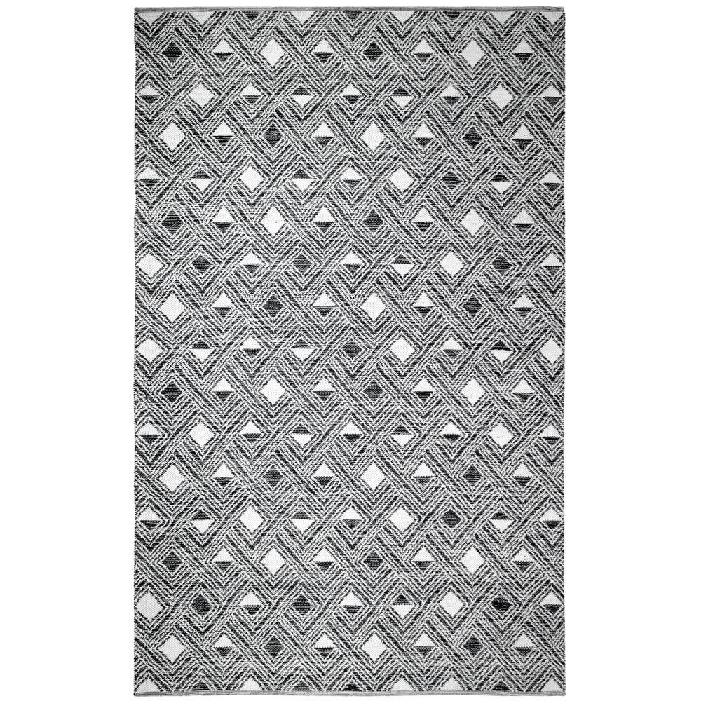Montauk Black/Ivory 5 ft. x 8 ft. Area Rug