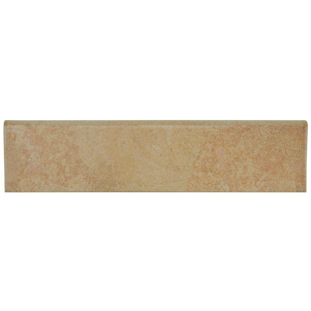 Merola Tile Hexatile Matte Rodeno 3 in. x 12 in. Porcelain Bullnose Floor and Wall Trim Tile